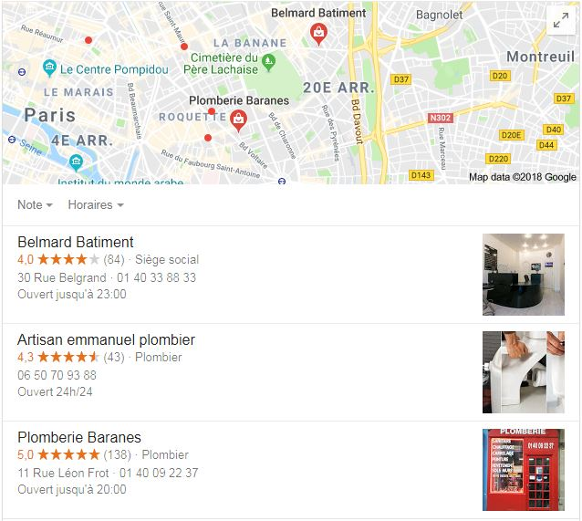 extrait google my business maps